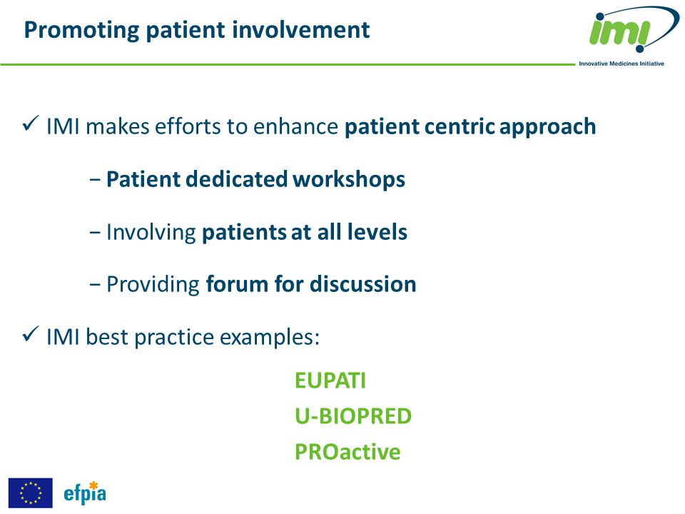 Promoting patient involvement