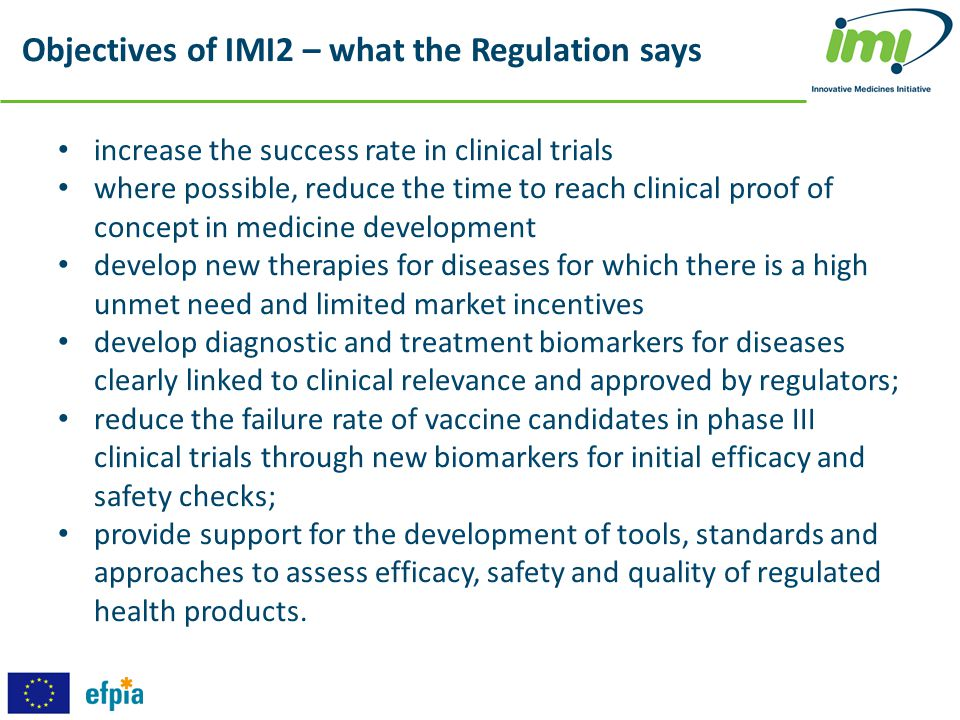 Objectives of IMI2 – what the Regulation says