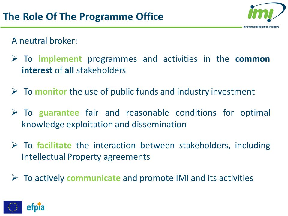 The Role Of The Programme Office