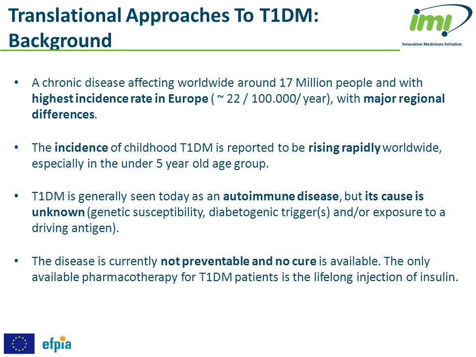 Translational Approaches To T1DM: Background