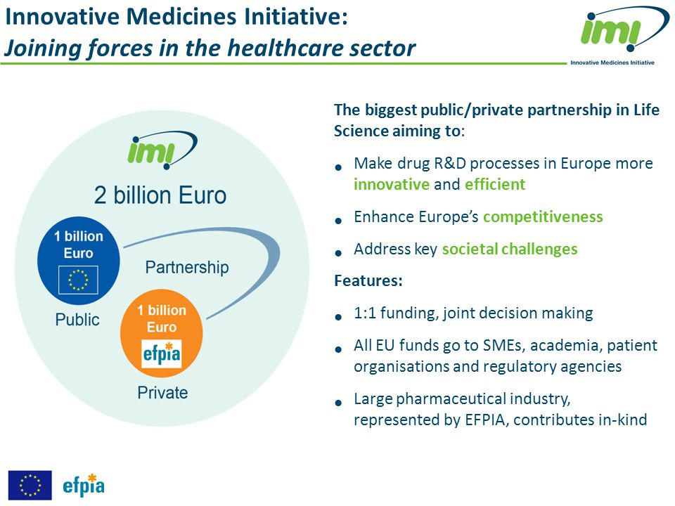 Innovative Medicines Initiative: Joining forces in the healthcare sector