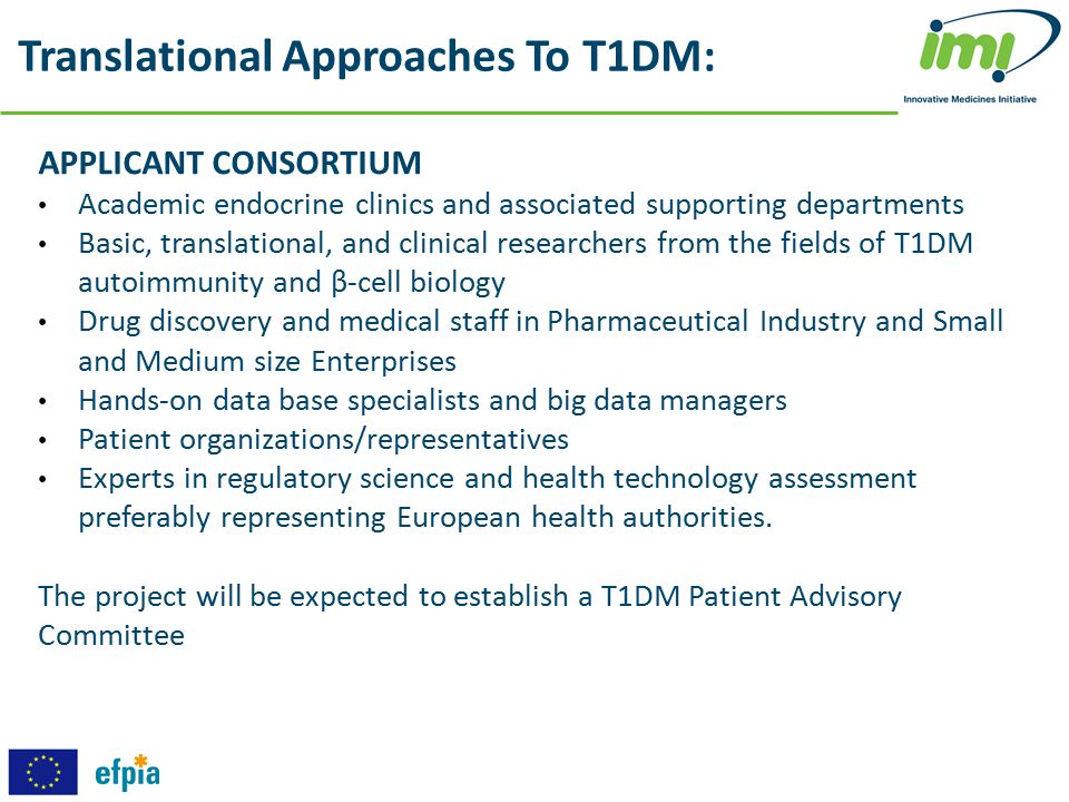 Translational Approaches To T1DM: