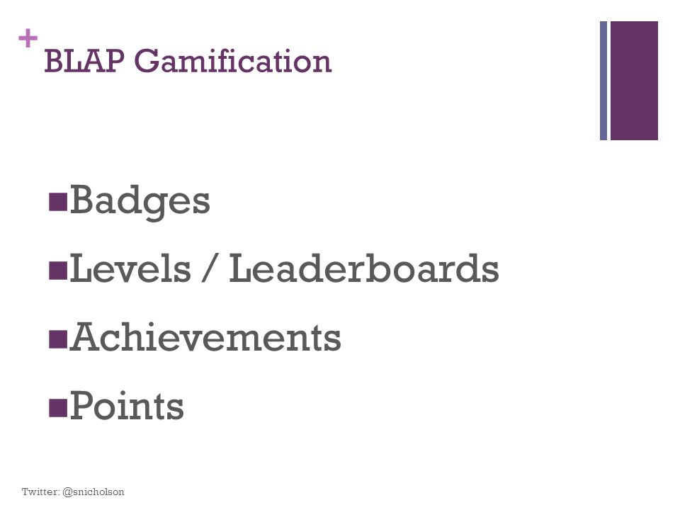 Badges Levels / Leaderboards Achievements Points BLAP Gamification