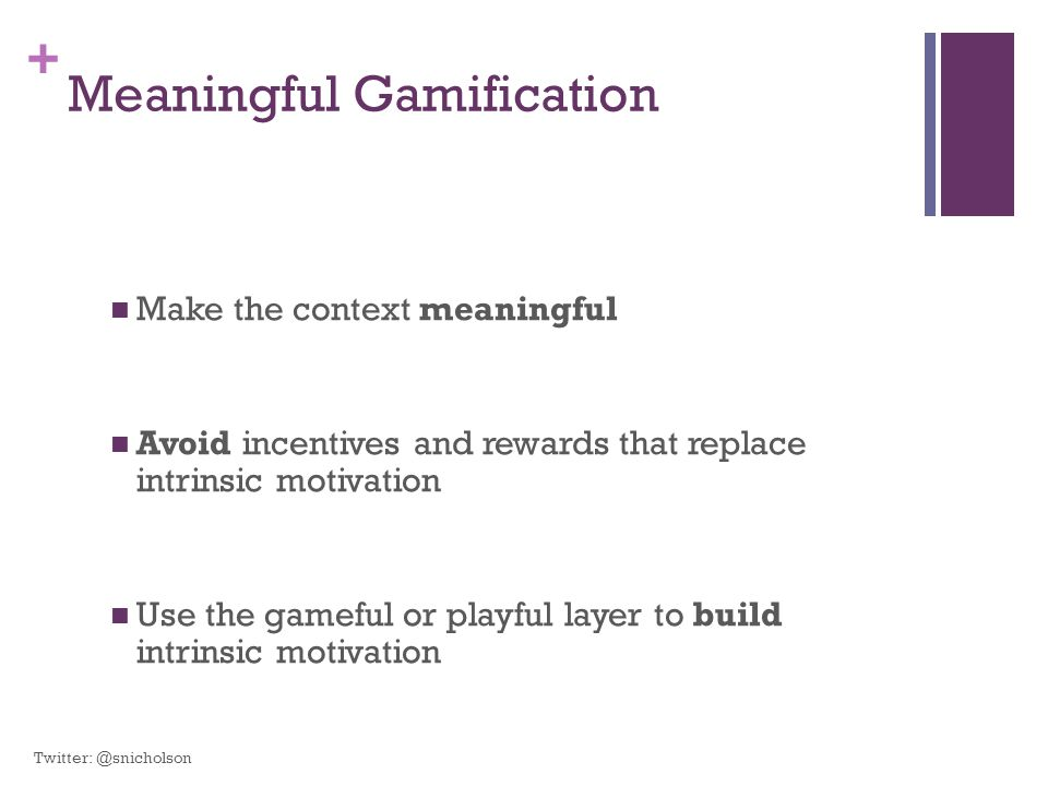 Meaningful Gamification