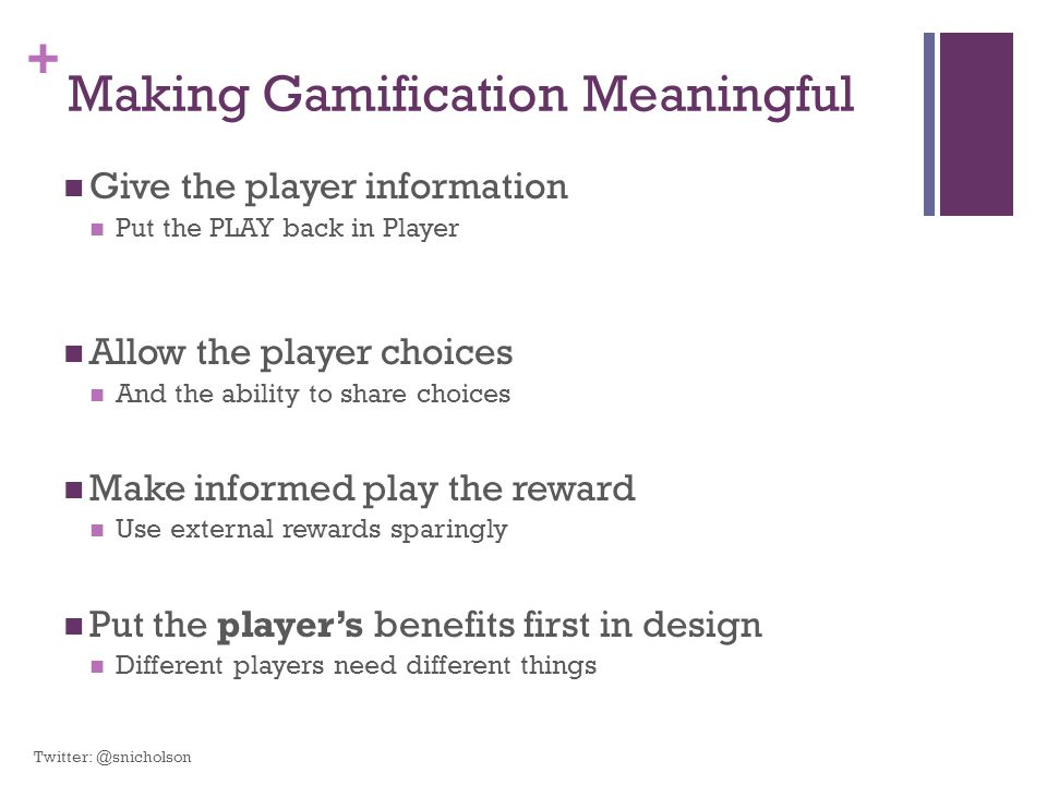 Making Gamification Meaningful
