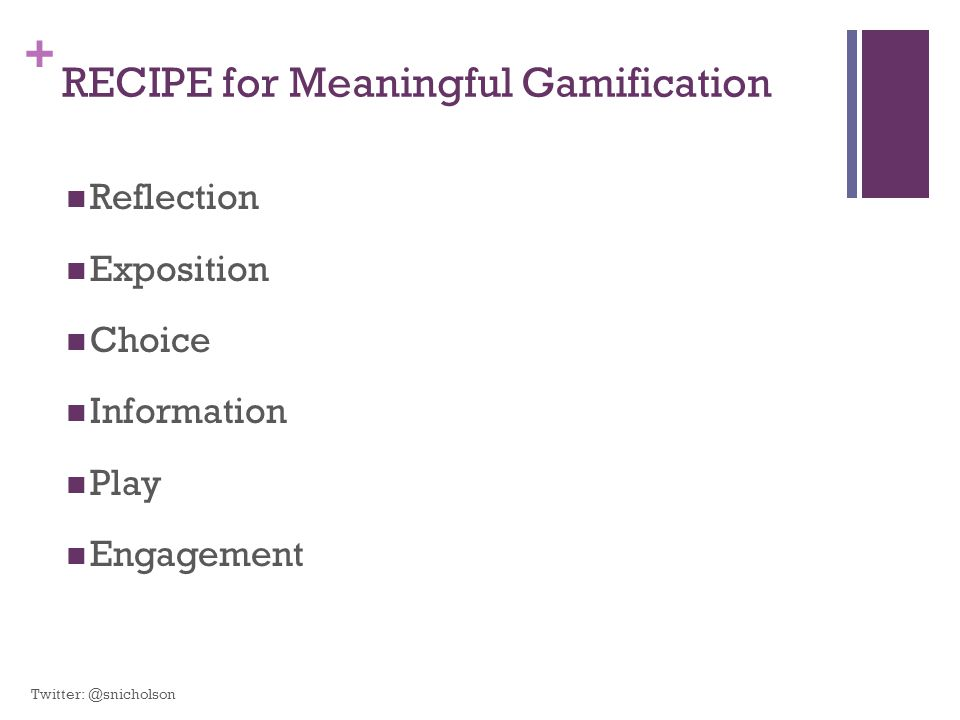 RECIPE for Meaningful Gamification
