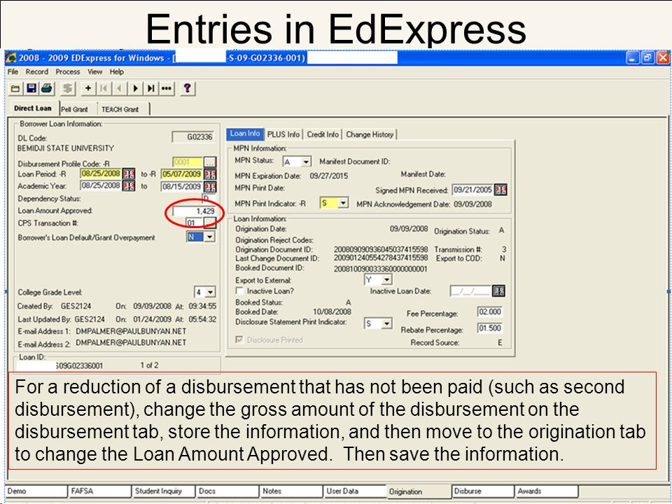Entries in EdExpress