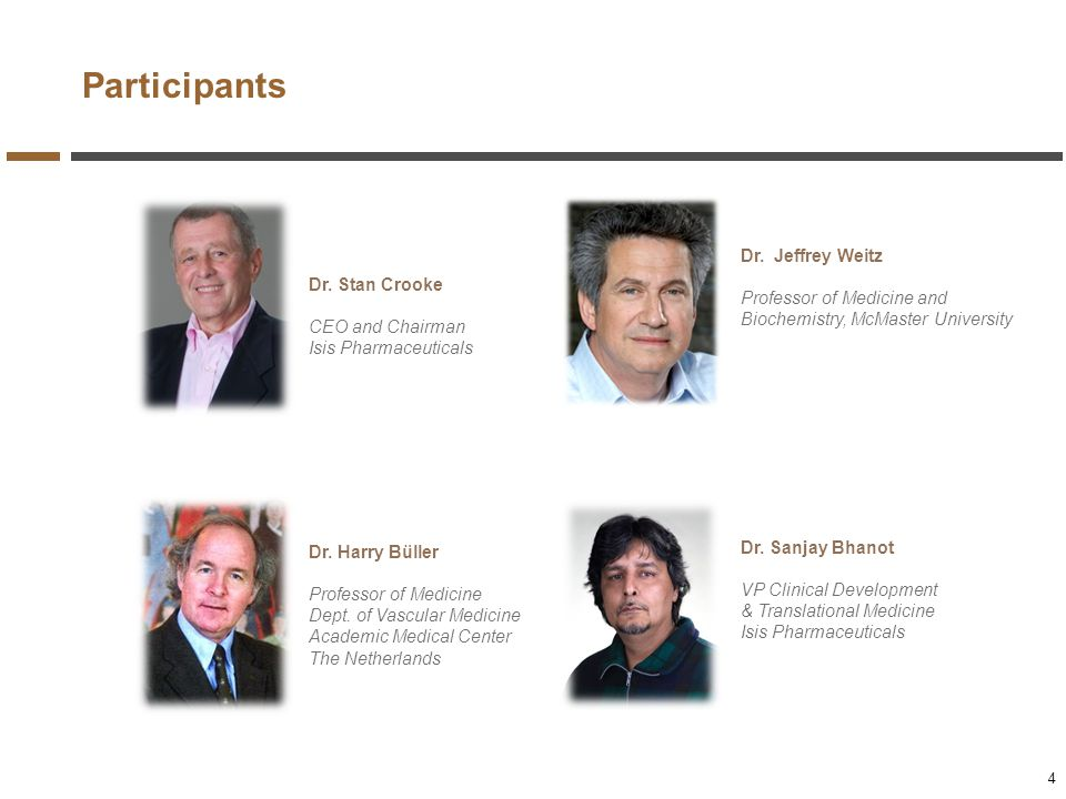 Participants Dr. Jeffrey Weitz