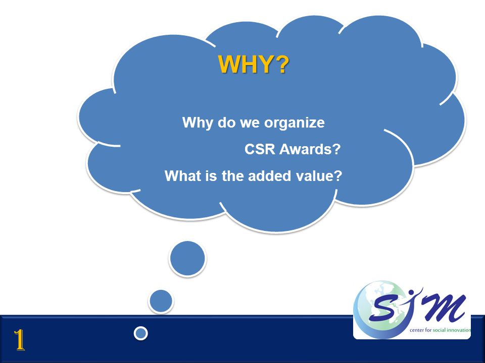WHY Why do we organize CSR Awards What is the added value 1