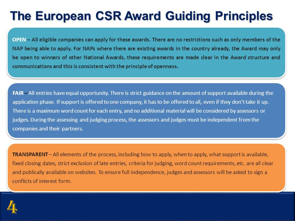4 The European CSR Award Guiding Principles