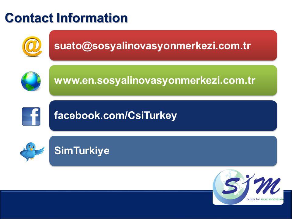 Contact Information suato@sosyalinovasyonmerkezi.com.tr. www.en.sosyalinovasyonmerkezi.com.tr. facebook.com/CsiTurkey.