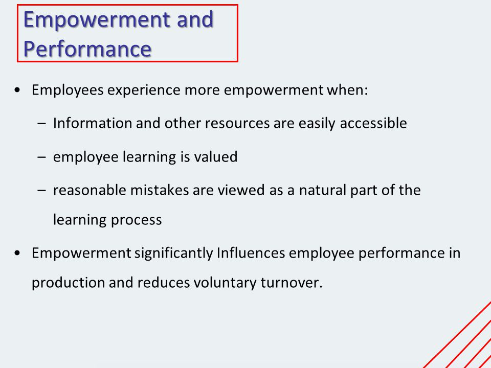 Empowerment and Performance