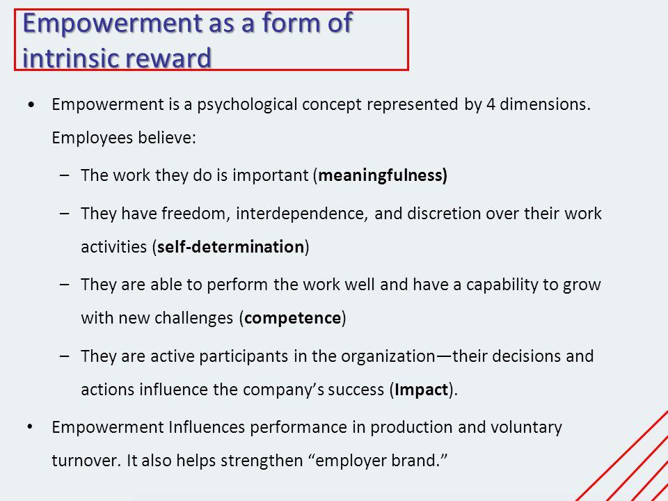 Empowerment as a form of intrinsic reward