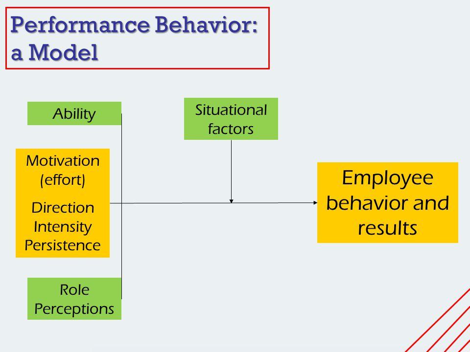 Performance Behavior: a Model