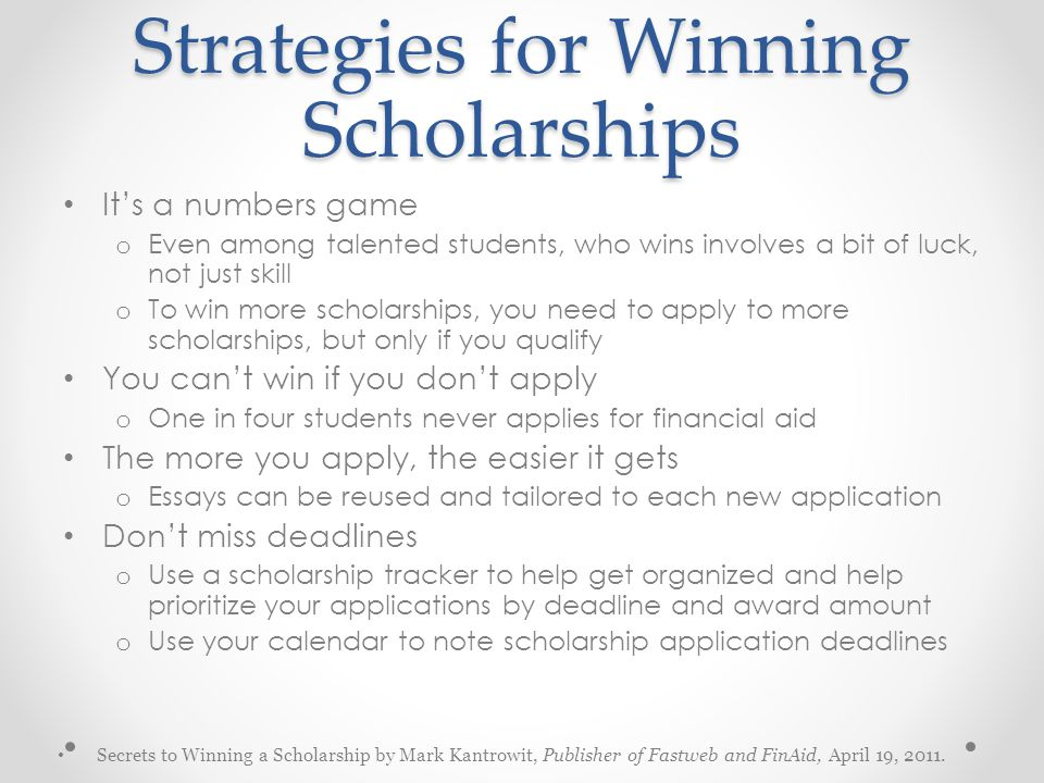 Strategies for Winning Scholarships