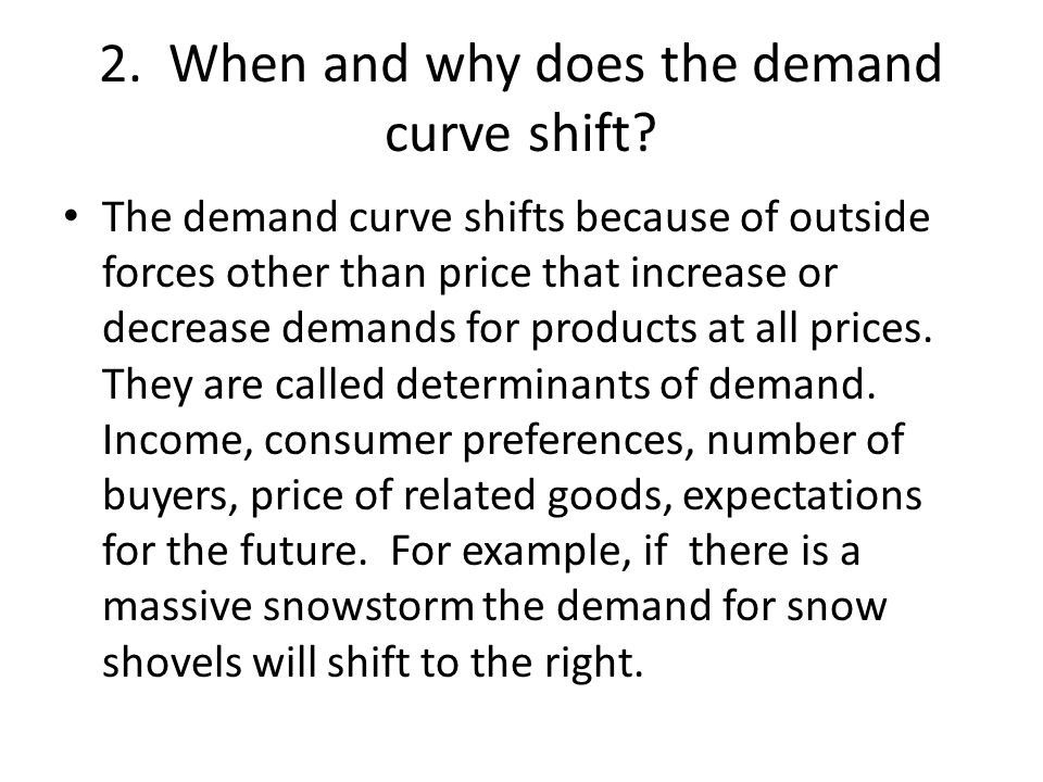 2. When and why does the demand curve shift