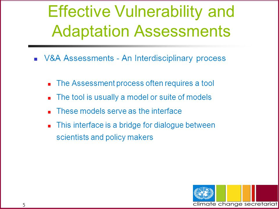 Effective Vulnerability and Adaptation Assessments