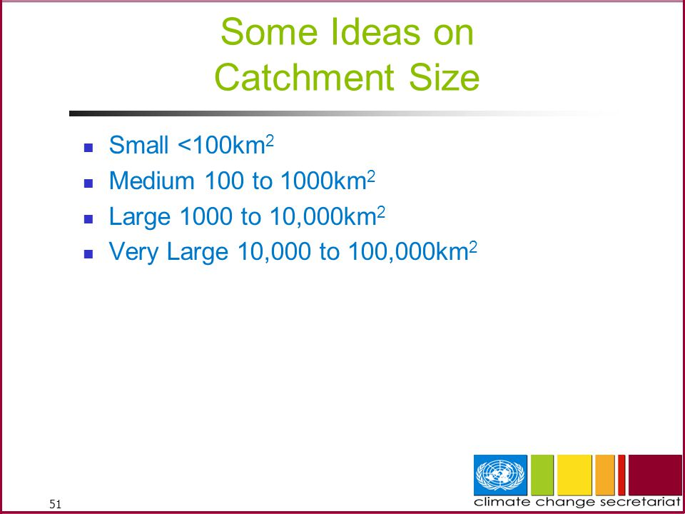 Some Ideas on Catchment Size