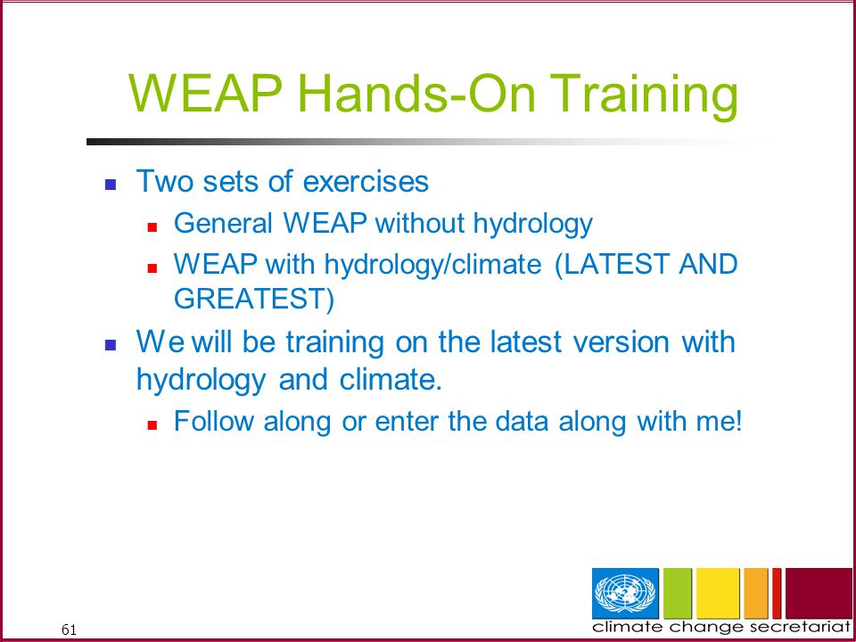 WEAP Hands-On Training