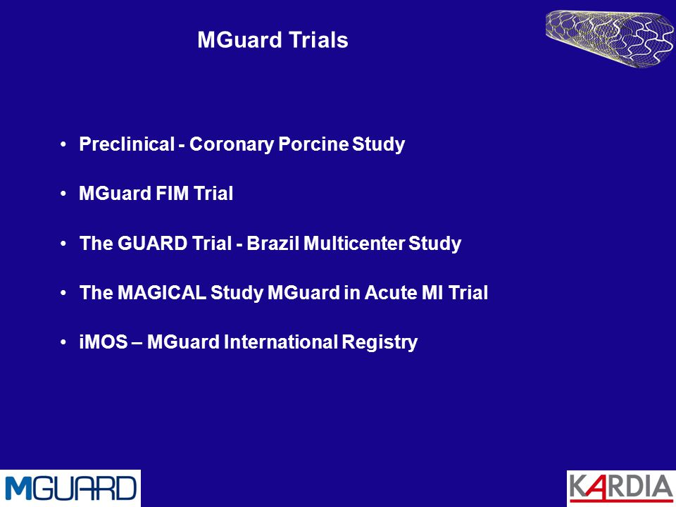 MGuard Trials Preclinical - Coronary Porcine Study MGuard FIM Trial