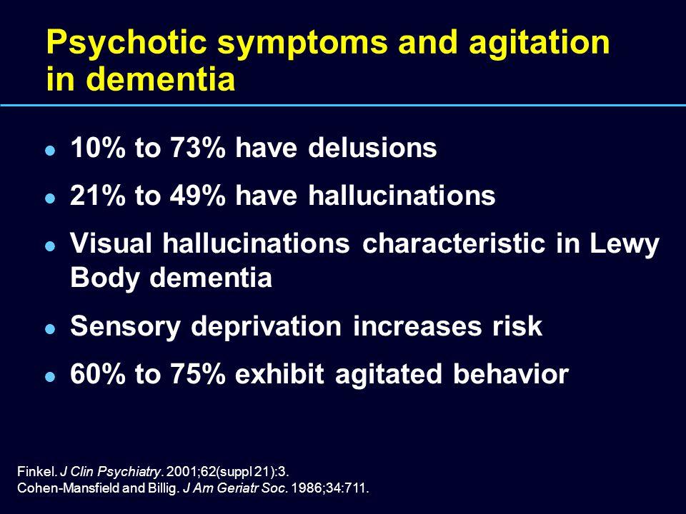 Psychotic symptoms and agitation in dementia