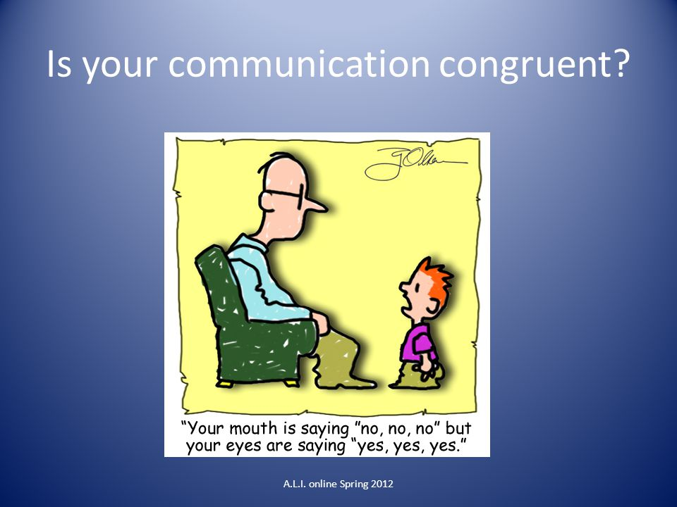 Is your communication congruent