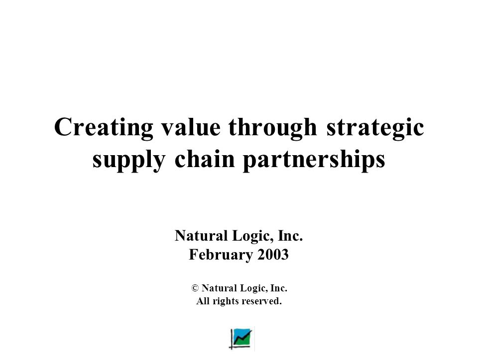 Creating value through strategic supply chain partnerships
