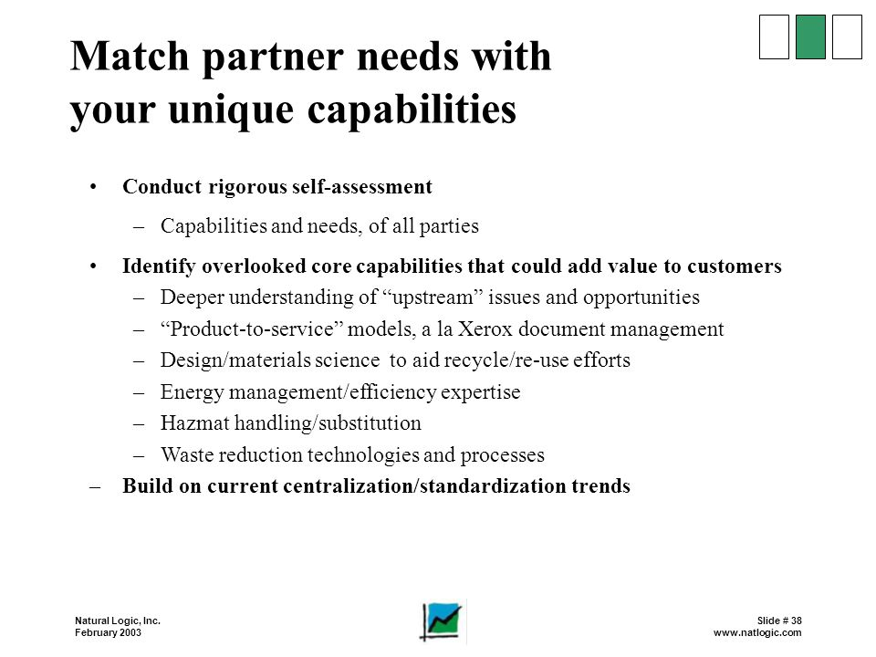 Match partner needs with your unique capabilities