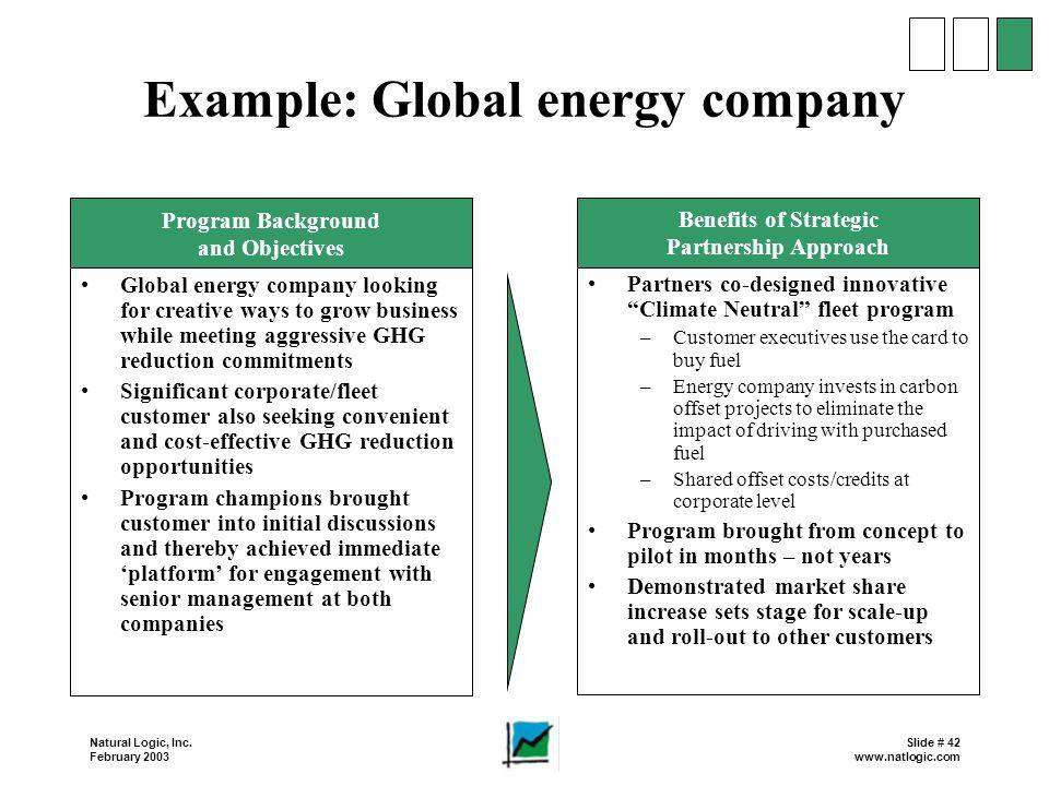 Example: Global energy company