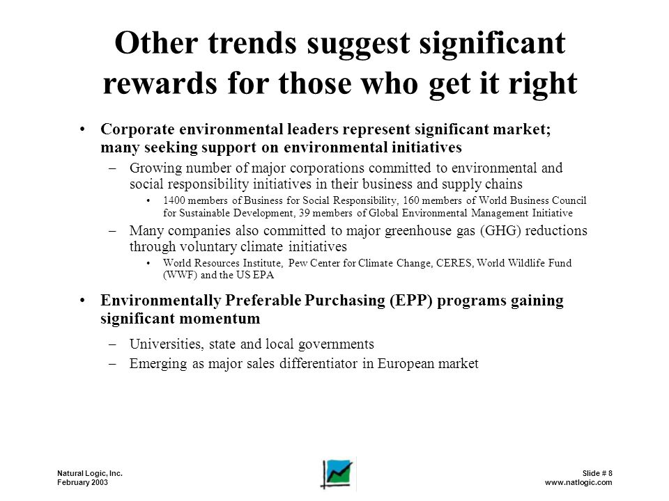 Other trends suggest significant rewards for those who get it right