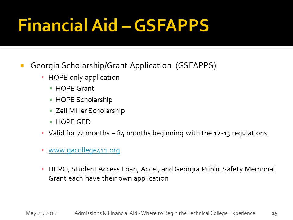 Financial Aid – GSFAPPS
