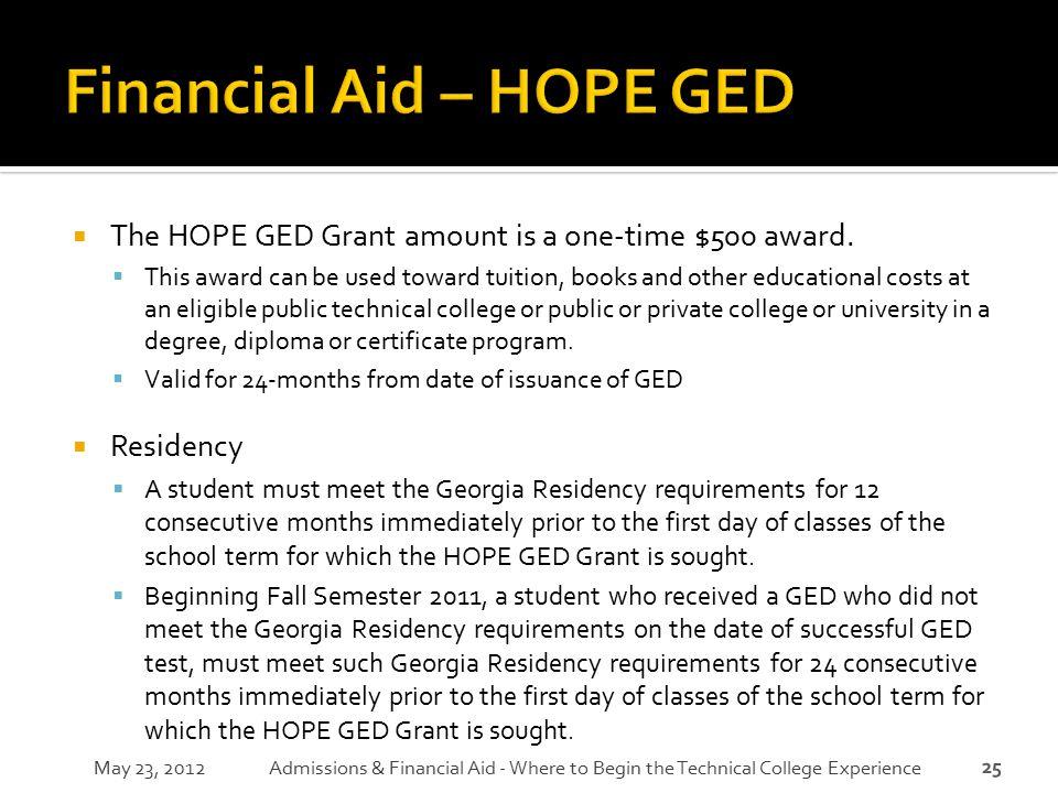 Financial Aid – HOPE GED