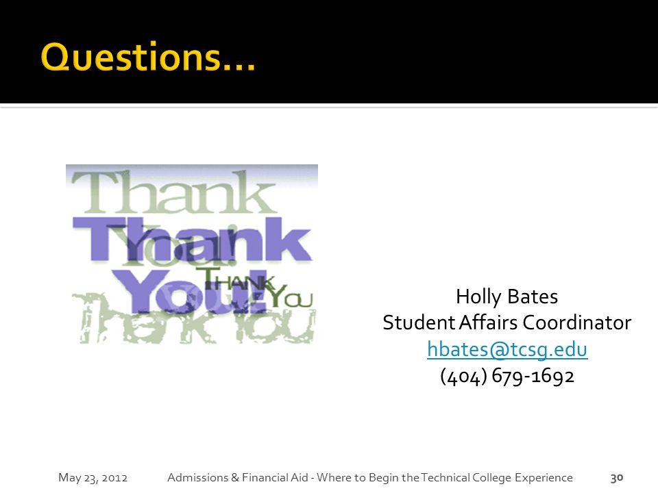 Student Affairs Coordinator