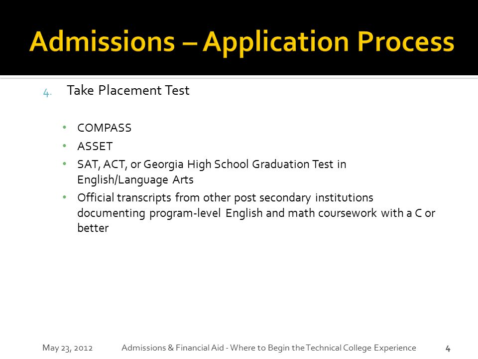 Admissions – Application Process
