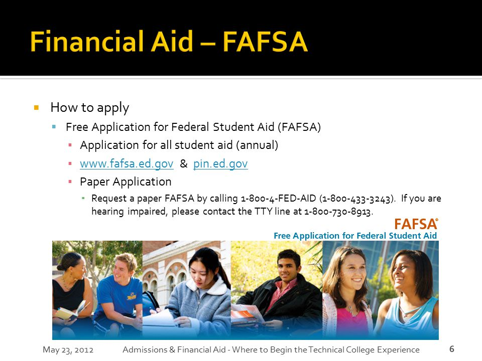 Financial Aid – FAFSA How to apply