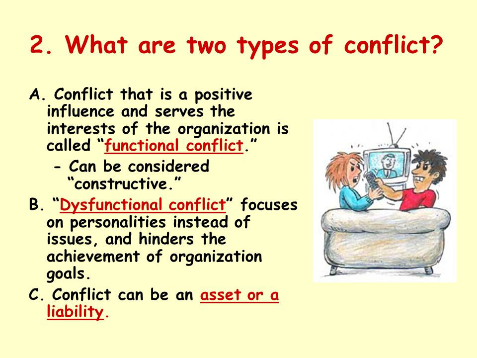 2. What are two types of conflict