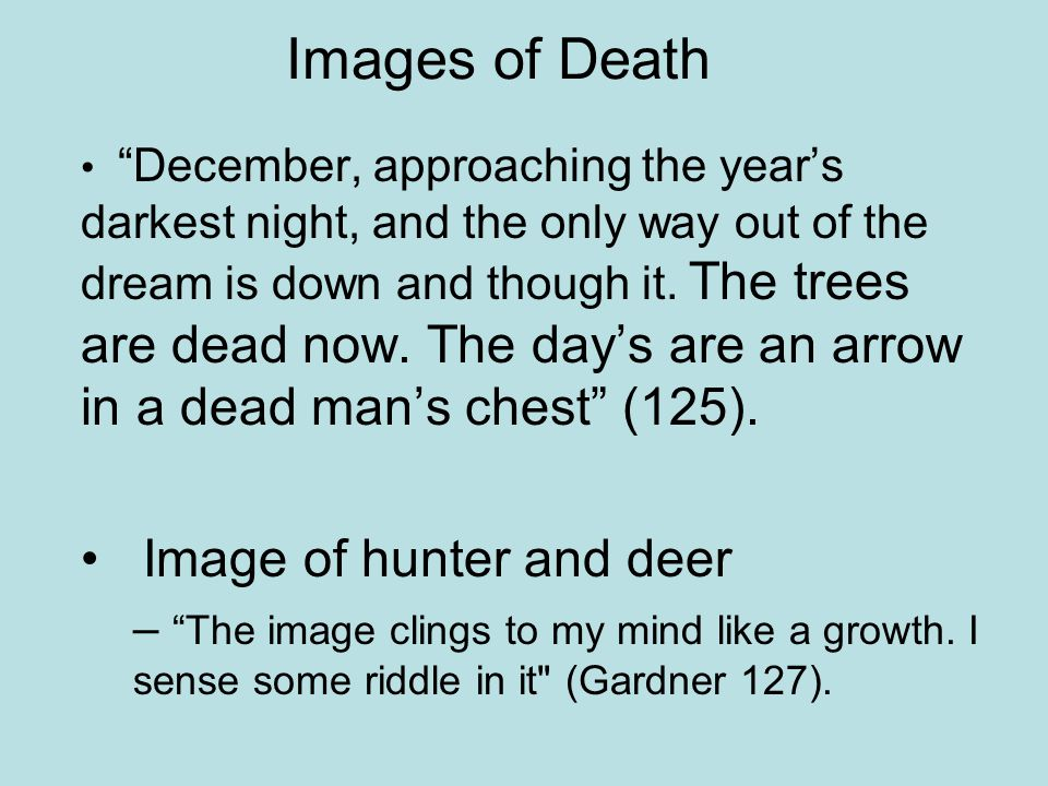 Images of Death Image of hunter and deer