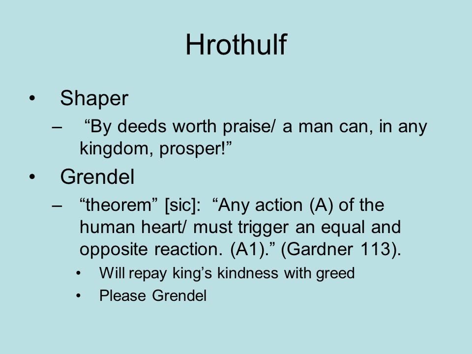 Hrothulf Shaper Grendel