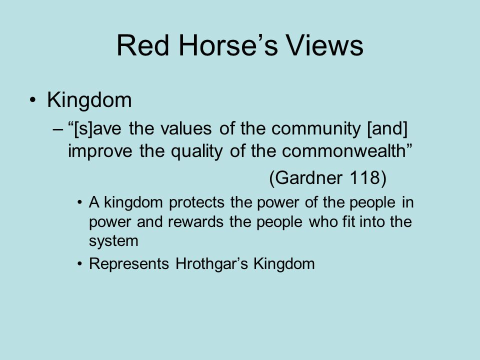 Red Horse's Views Kingdom