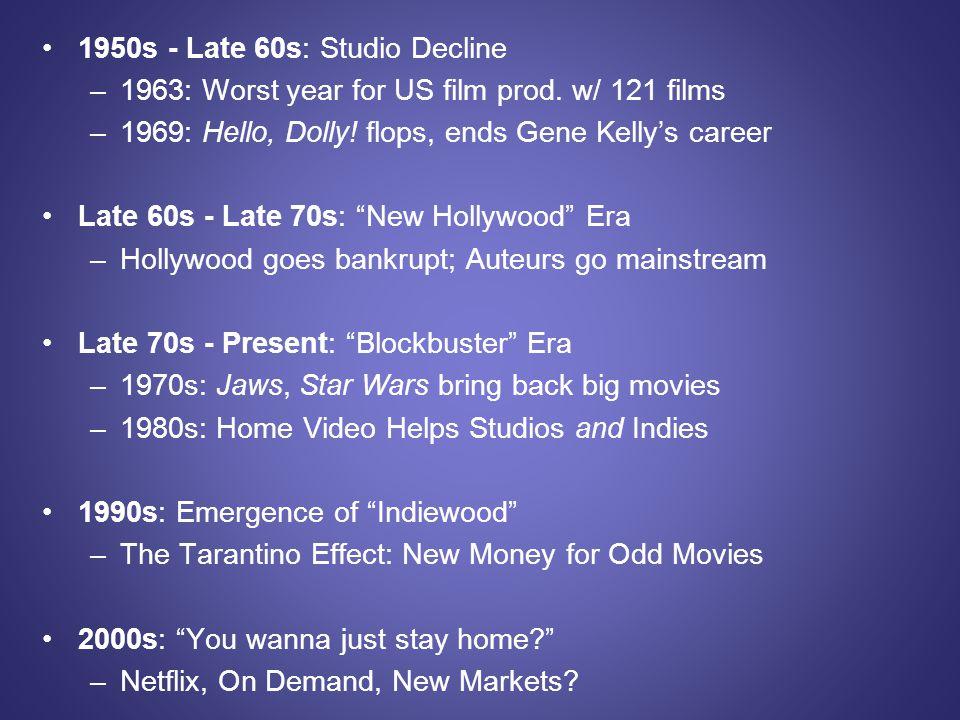 1950s - Late 60s: Studio Decline