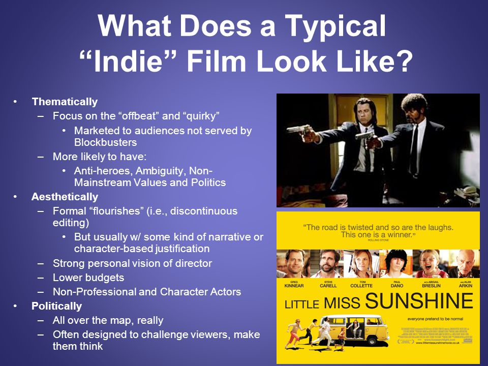 What Does a Typical Indie Film Look Like