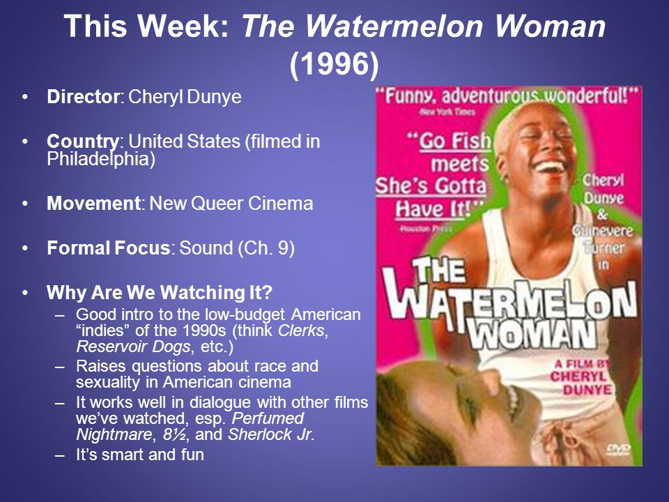 This Week: The Watermelon Woman (1996)