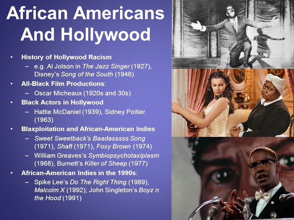 African Americans And Hollywood