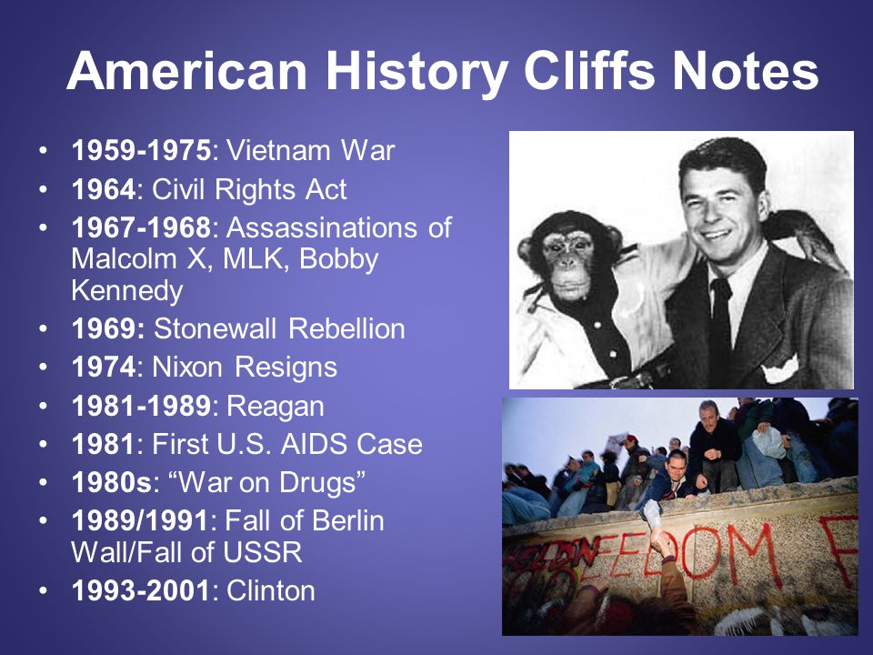 American History Cliffs Notes