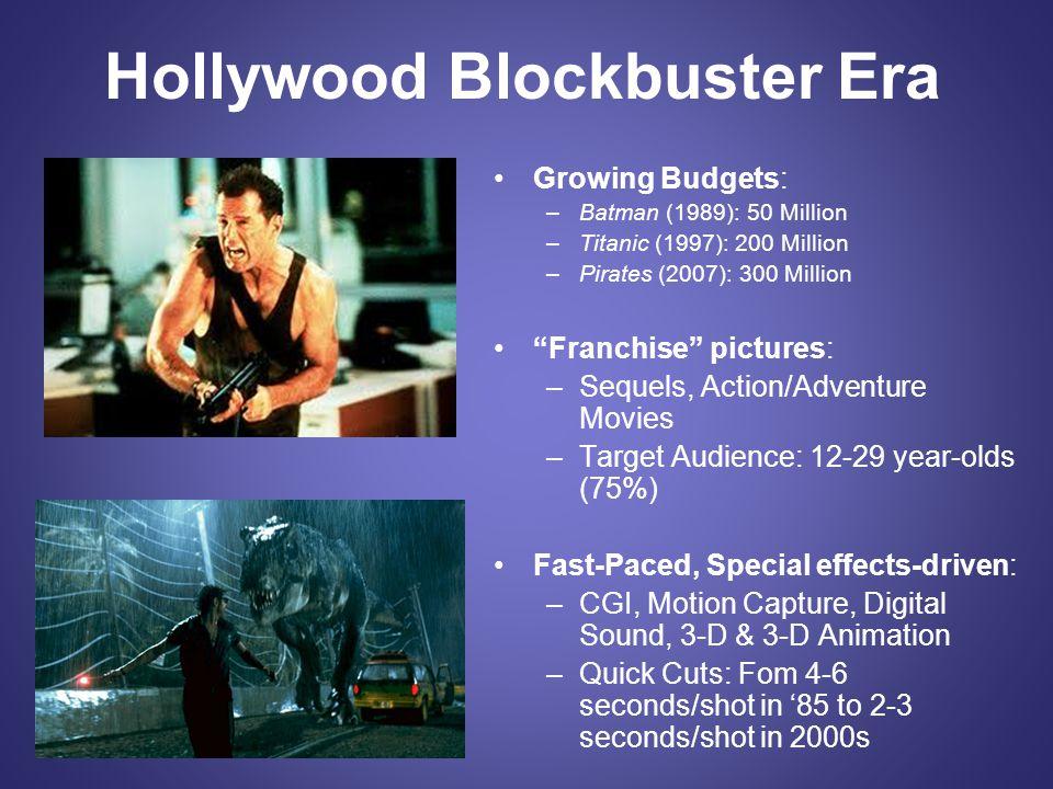 Hollywood Blockbuster Era