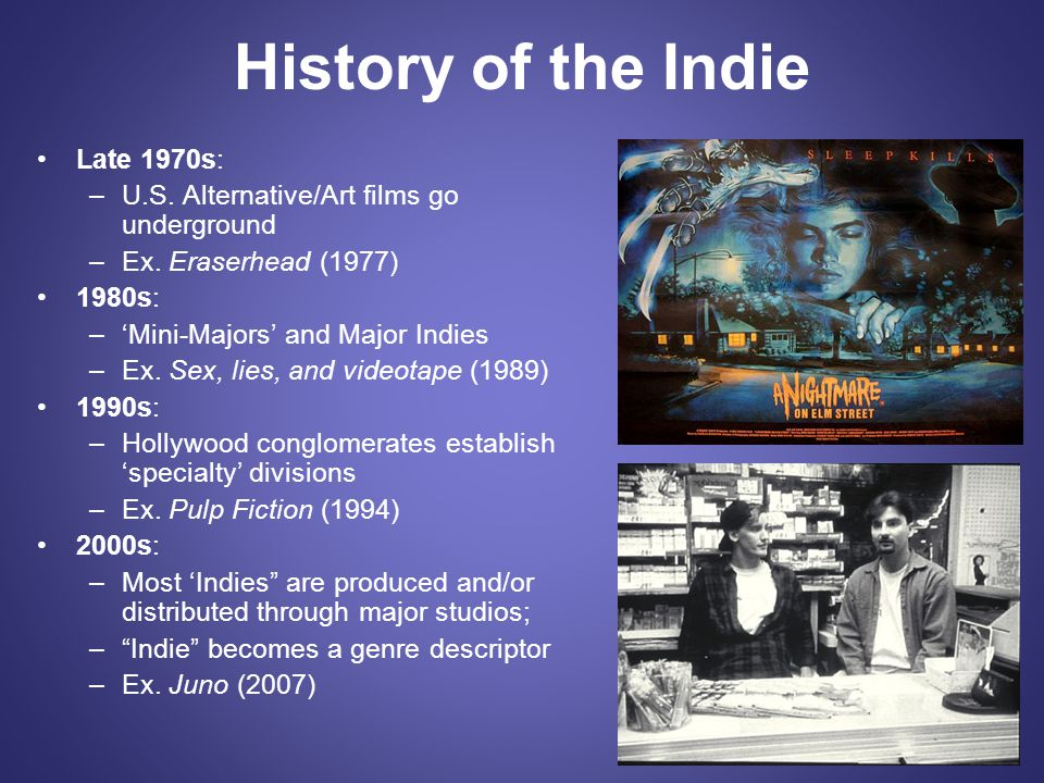 History of the Indie Late 1970s:
