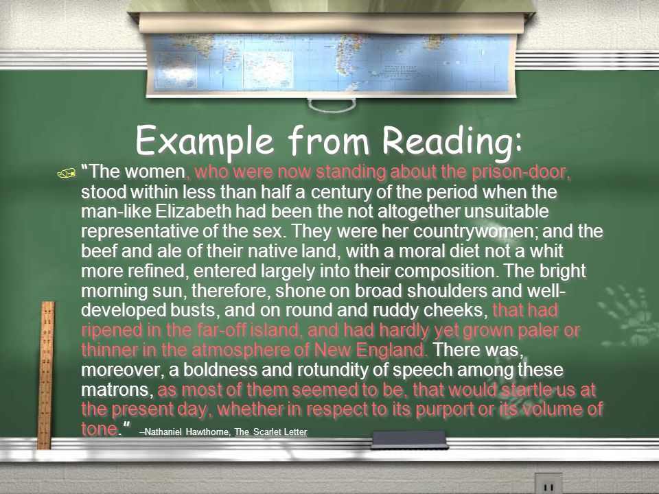 Example from Reading: