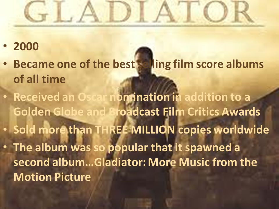 Became one of the best selling film score albums of all time
