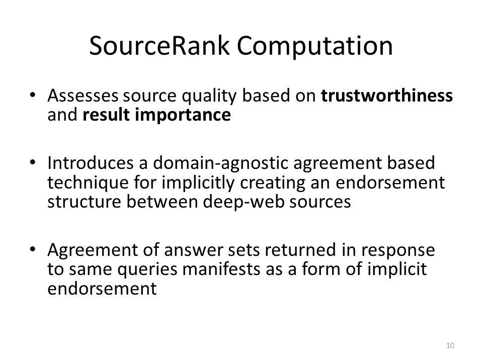 SourceRank Computation