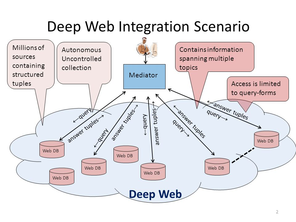 Deep Web Integration Scenario